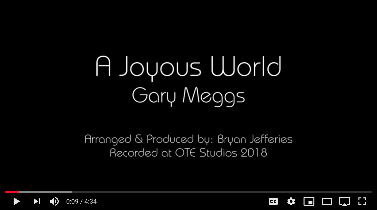Gary Meggs - A Joyous World