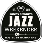 Sandy Shore's Jazz Weekender Logo - Black