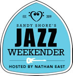Sandy Shore's Jazz Weekender Logo - Blue