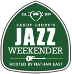 Sandy Shore's Jazz Weekender Logo - Green