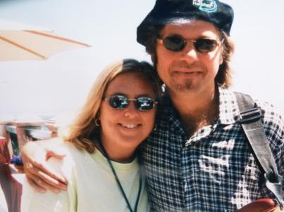 Sandy Shore with guitarist Jeff Golub 1996